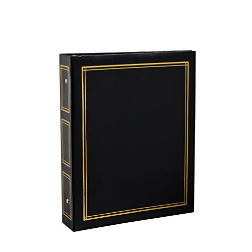 Arpan Deluxe Large Self Adhesive Ring Binder Photo Album 40 Sheets/80 Sides - Black by ARPAN