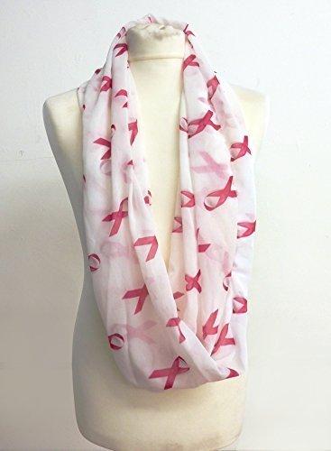 Rosa Brustkrebs Schleife Infinity Schal Jersey oder Chiffon Unisex bedruckt Loop Fashion Schals (Infinity Tshirt Schals)