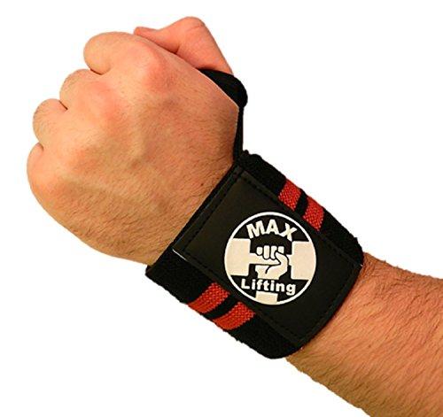 Handgelenk Wraps By Heavy Duty 18mit Daumenschlaufen-Bodybuilding, Crossfit, Powerlifting, Handgelenk Schutz-2Paar-passend für alle Größe Handgelenke