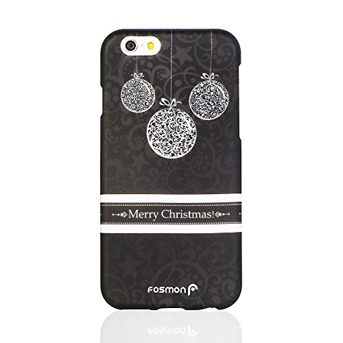 iPhone 6 (4.7) Case - Fosmon MATT SEASON 2 Piece Design Rubberized Snap-On Case for Apple iPhone 6 (4.7) - (Gold Ornaments) White Ornaments