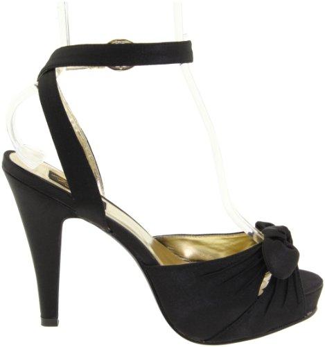 Pin Up Couture Bettie-04, Scarpe Col Tacco Donna Schwarz (Blk Satin)