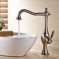 GFF The sink bath taps all copper, nickel silver design, bathroom faucets, sink turntable of 360 degrees, high sink bath, hot and cold taps