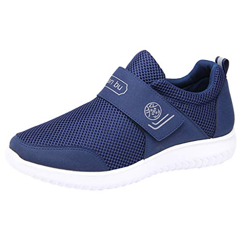 SoonerQuicker Sneaker Herren New Herrenmode Casual Paare Mesh Atmungsaktive Sport Laufschuhe Turnschuhe blau - Asiatische Weiße Paare Kostüm