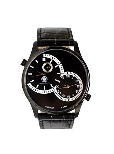 Constantin Durmont CD-AIRF-QZ-LT-IPIP-BK - Reloj de pulsera hombre, Cuero, color Negro