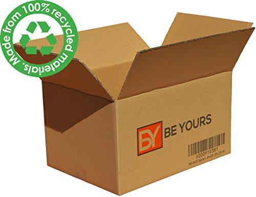 Foto de Pack de 20 Cajas de Cartón - Canal Simple de Alta Calidad Reforzado - Fabricadas en España - Cajas de Mudanza, Color Marrón - Tamaño 430 x 300 x 250 mm