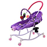 LITIAN Funzione Bambino Rocking Chair Musica vibrazionale Comfort Baby Care Bambino Rocking Chair Lino Purple