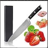 LEHONG Kochmesser Küchenmesser Chefmesser 20 cm Sehr Scharfe Allzweckmesser Klinge Rostfreier Stahl Köche Messer zum Schneiden