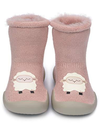 Adorel Pantofole Calzini Antiscivolo Bambini Rosa 24-30 mese