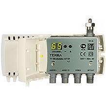 TERRA - MT 47 Modulador interno VHF / UHF con alimentación automática, pantalla digital, programable, nivel de salida ajustable de 75 a 95dBμV