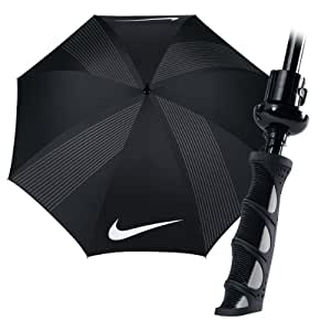 "Nike Golf 2012 62"" Windproof V Umbrella - Black/Cool Grey/White"