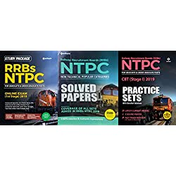 COMBO PACK OF ARIHANT NTPC GUIDE RRB NTPC SOLVED PAPERS 3500+ QUESTIONS SOLUTIONS WITH FREE PRACTICE SETS 2019