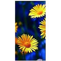 Q&M Refrigerador Sticker 3D Autoadhesivo Desmontable Impermeable Vinilo Cubierta Puerta Completa Flor del Sol BX067,60 * 150Cm