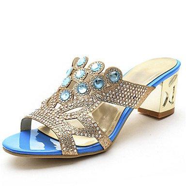 RTRY Donna Sandali Estivi Scarpe Club Glitter Materiale Personalizzato Abito Da Sposa Party & Sera Chunky Blocco Tacco Tacco Strass US3.5 / EU33 / UK1.5 / CN32