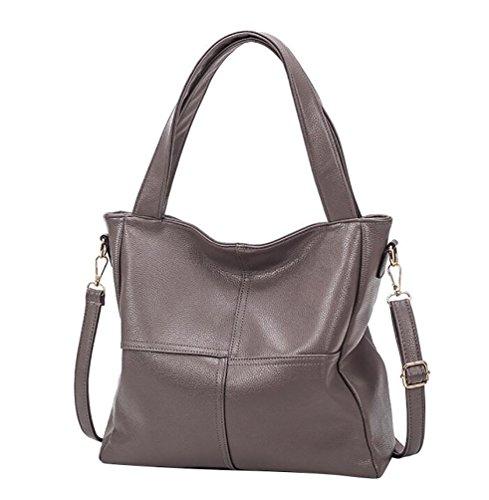 YouPue Taschen Damen Handtaschen PU Leder Weiblichen Beutel Handtaschen Für Frauen Handtasche Grau