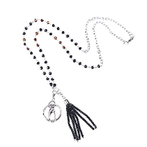 kette Perlen Quaste Lanyard Halskette Handy Schlüssel Arbeit Karte Anhänger Lange Pullover Kette ()