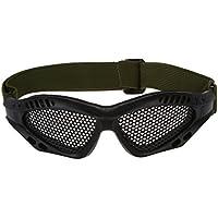 SODIAL(R) Gafas Tacticas Rejilla Proteccion Ojos Militar Seguridad Supervivencia Negro
