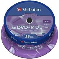 Verbatim 43757 DVD+R Double Layer 8x Speed 8,5 GB 25er Spindel silber