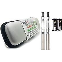 Electronic Cigarette Vaporizer Pen Twin Pack Starter Kit (silver)