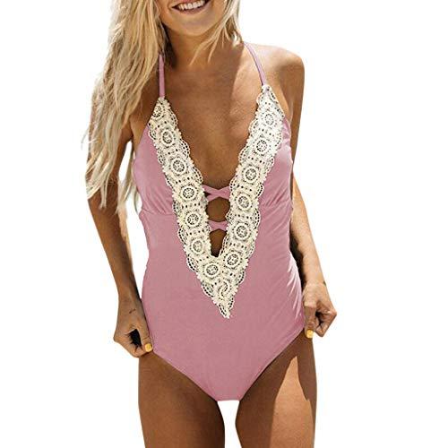 Kostüm Maus Miss Sexy - VBWER Damen Schlankheits Badeanzug Raffung Einteiler High Neck Set Sexy Halter Bademode Strandmode