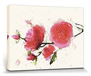 Flowers Stretched Canvas Print - Wild Ruby, Summer Thornton (32 x 24 inches)