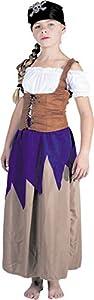 Party Pro-Disfraz de pirata filledéguisement de pirata niña, 86513746, 4-6años