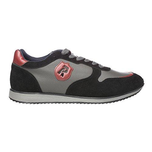 RIFLE Sneakers da uomo, scarpa bassa stringata - Mod. 162-M-340-450 Nero - Bordeaux