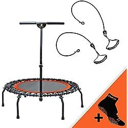 STARFLEX Pro trampolín Adulto Unisex, Naranja y Negro, diámetro 112cm