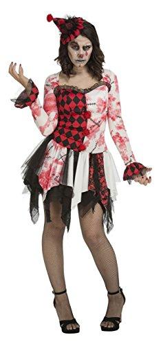 Imagen de my other me  disfraz payasa diabólica para mujer, s viving costumes 204055