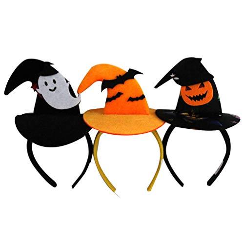 Freundlicher Kostüm Geist Kinder - Lurrose 6pcs Halloween Stirnbänder nette Huthaarbänder Hexehut hairband Kürbisgeisterhaar-Haarzusatz für Mädchenfrauenkinder