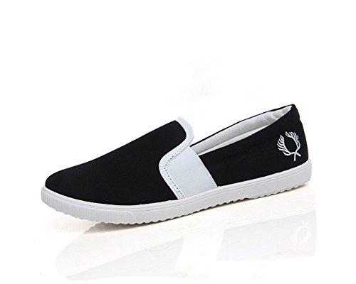 Minetom Femmes Filles Toile Slip-On Chaussures Mode Doux Espadrilles Respirante Low Top Chaussures