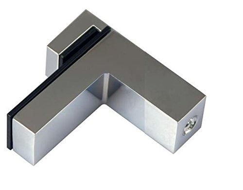 2x DESIGN Regalhalter Regalträger bis 30 kg Regal Aluminium Alu Chrom
