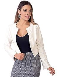 7206a5b1a812d3 Amazon.it: giacca bianca donna: Abbigliamento