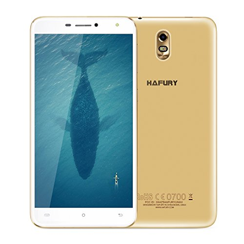 CUBOT HAFURY Max – Smartphone Libre 3G Android 7.0, (Pantalla táctil 6.0″ HD, 4500mAh batería, 2GB Ram + 16GB ROM, Quad core, Dual SIM, Cámara 13Mp, 1.3 GHz), [ CUBOT OFICIAL ]