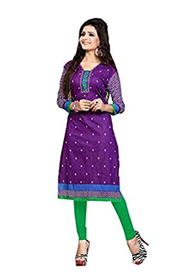 Nakoda Women's Cotton Unstitched Kurti (931s_Multi-Coloured)