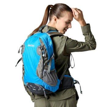 Outdoor-Bergsteigen Tasche Rucksack 28L wasserdicht Reisen,Blau