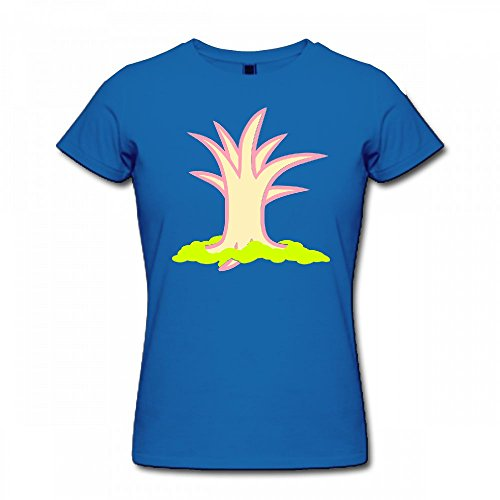 qingdaodeyangguo T Shirt For Women - Design Bald Tree Shirt Blue