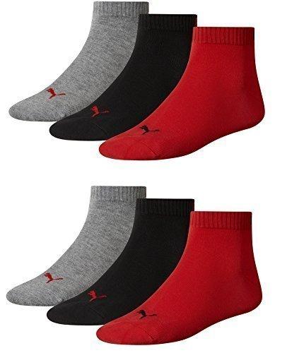PUMA Unisexe Quarters Chaussettes de sport 6er Pack