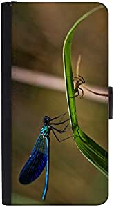 Snoogg Dragonfly And Spider Designer Protective Phone Flip Back Case Cover For Samsung Galaxy J7 (2016)
