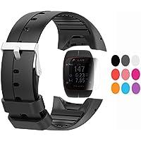 TUSITA Strap + Protecteur d'écran pour Polar M400/M430, Bracelet en Silicone de Remplacement Accessoire pour GPS Polar