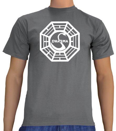 Lost Dharma Logo T-Shirt Darkgrey, (Halloween Sterne Kostüm Pop)
