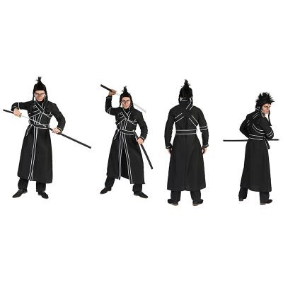 Kostüm Samurai Haruto Größe 56/58 Herren Japan Asien Kämpfer Schwarz Karneval Fasching Pierro's