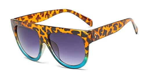 Passionate turkey Leidenschaftlich türkei muselife gafas Mode Frauen Sonnenbrille Designer Vintage Sonnenbrille große Full Frame Eyewear Frauen Brille, 11-Leopard.Blue