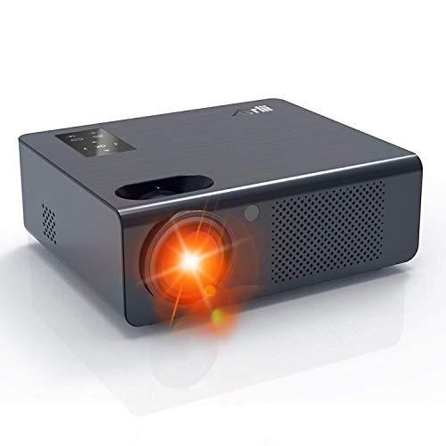 Proyector, Artlii Energon LED proyector Cine en casa con Función de Zoom 25% -100% Panel Táctil Proyector De Películas HD 720P, Soporte 1080P TV / AV / VGA / USB / HDMI