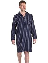 100%  coton brossé pour homme Motif à carreaux de Nuit-Chemise de Nuit Rayée