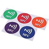 SODIAL(R) 5pcs Mignon 888octets Intelligent NFC etiquettes Autocollants pour Samsung Galaxy S5 S4 Note 3 Note 4 Sony Xperia Nexus 5 NXP NTAG216 All NFC Smartphones Motif Haut-parleur
