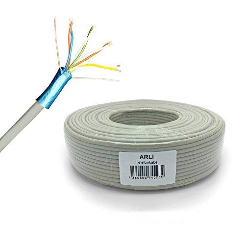 Preisvergleich Produktbild Telefonkabel 25m 4x2x0,6 mm Verlegekabel 8 Adern JYSTY Telefonleitung Telefon Kabel Leitung rund Auf- und Unterputz J-Y(ST)Y ader ARLI 25 m 4 x 2 x 0,6 mm