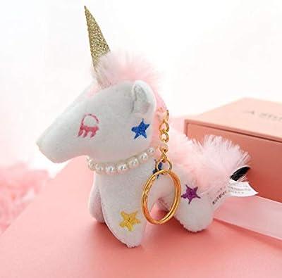 WYBL Bonita Mosca Alada Unicornio Stitch Llavero Mochila Mochila Mochila Colgante Relleno Animal Mini Suave Felpa Juguete Kawaii Niños Regalo De La Niña por WYBL