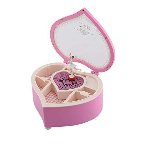 PROKTH Ballerina - Caja de música para niña, diseño de corazón con Forma de corazón