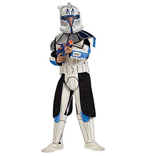 Deluxe Star Wars Captain Rex Kostüm für Kinder Gr. 110-152, Größe:M