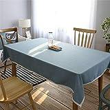 Wasserdichtes Tischtuch-Blau Einfaches amerikanisches Land-Restaurant Grey Picnic Tablecloth (Farbe : Blau, größe : 130x190cm)